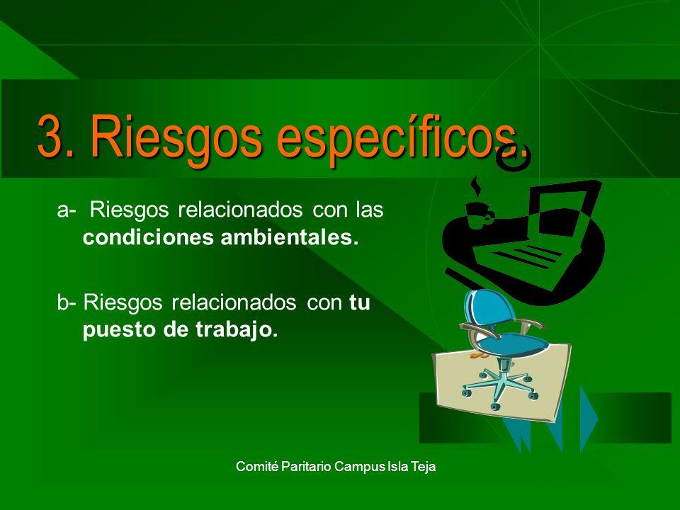 Comité Paritario Campus Isla Teja 3a) Riesgos ambientales.