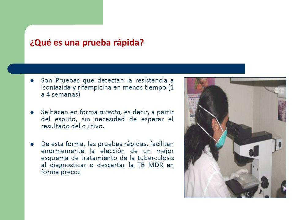 ¿Qué pruebas rápidas están disponibles en el Perú.
