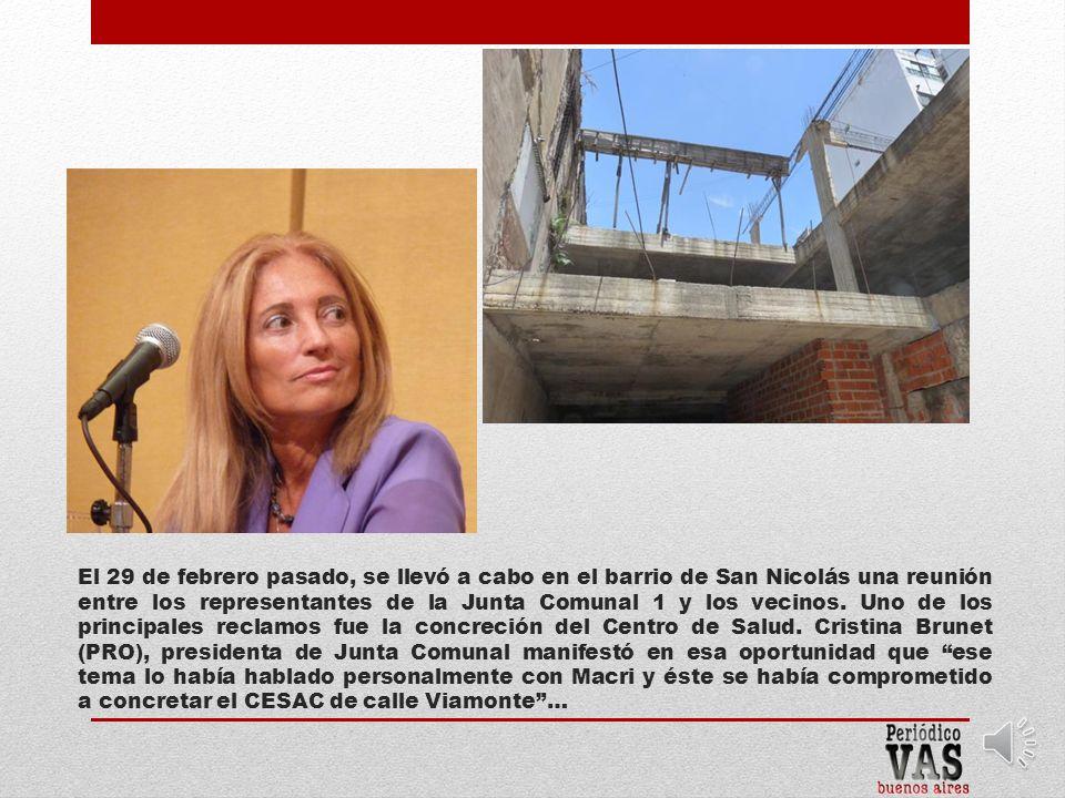 En diciembre pasado, el arquitecto Soto de la Dirección General de Bienes del Gobierno porteño, se presentó en el lugar a fin de «tasar» el inmueble.