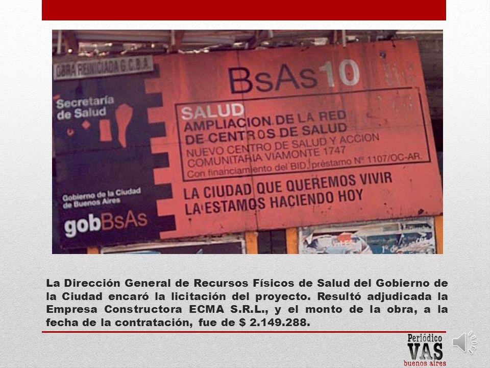 En 2005 el Gobierno de la Ciudad inició la obra del Centro de Salud sobre la calle Viamonte 1747, en la parte posterior del Mercado San Nicolás, que tiene ingreso por Av.