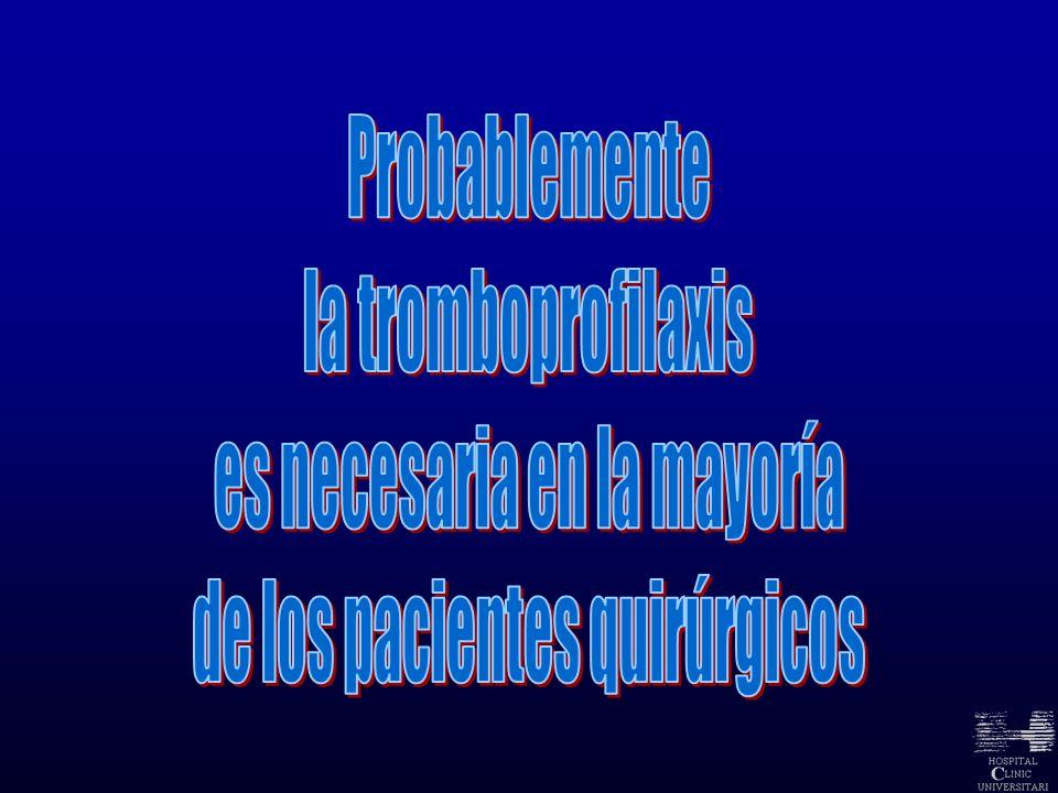 Revista Española de Anestesiología y Reanimación Heparinas de bajo peso molecular.