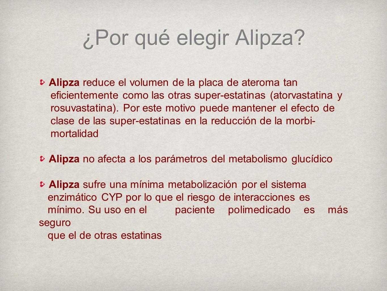 Alipza reduce el volumen de la placa de ateroma tan eficientemente como las otras super-estatinas (atorvastatina y rosuvastatina).
