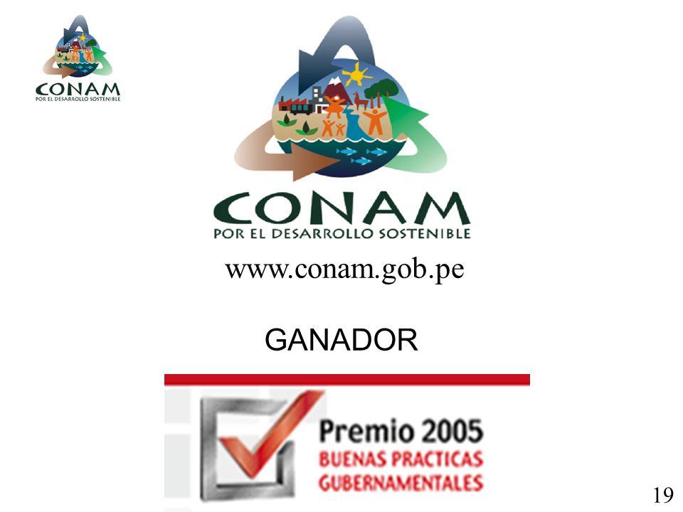 GANADOR www.conam.gob.pe 19