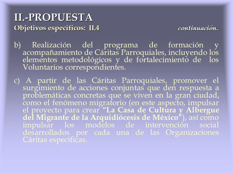b) Realización del programa de formación y acompañamiento de Cáritas Parroquiales, incluyendo los elementos metodológicos y de fortalecimiento de los