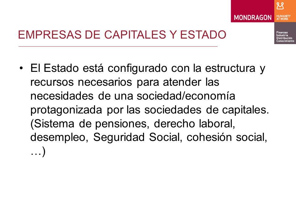CONCLUSION 5.En concreto, hay que estimular una menor carga fiscal de las empresas de Economía Social que haga posible el destino de recursos alternativos suficientes a la creación de su propio entorno institucional autoorganizado.