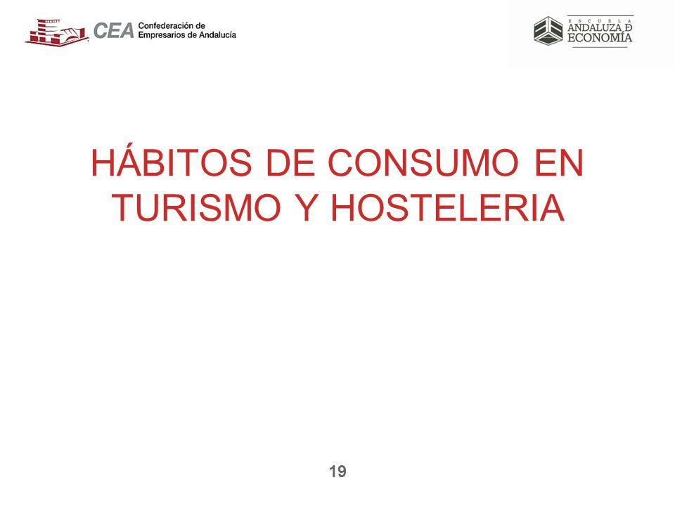 HÁBITOS DE CONSUMO EN TURISMO Y HOSTELERIA 19
