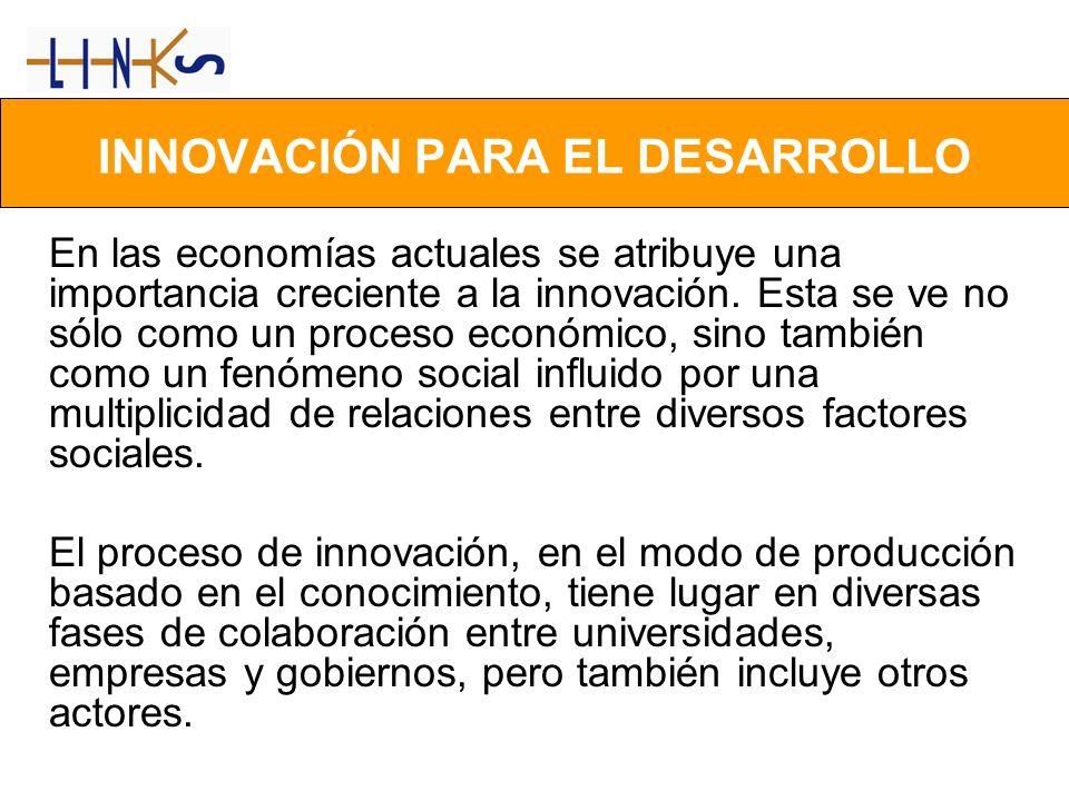 En las economías actuales se atribuye una importancia creciente a la innovación. Esta se ve no sólo como un proceso económico, sino también como un fe