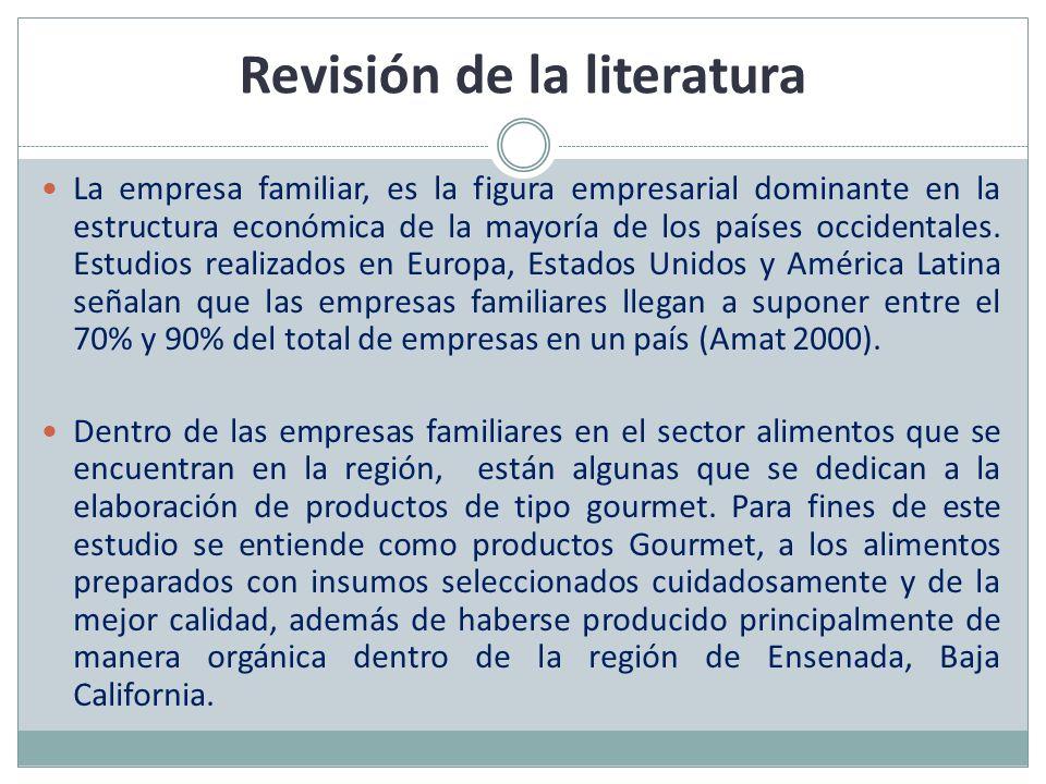 Revisión de la literatura La empresa familiar, es la figura empresarial dominante en la estructura económica de la mayoría de los países occidentales.