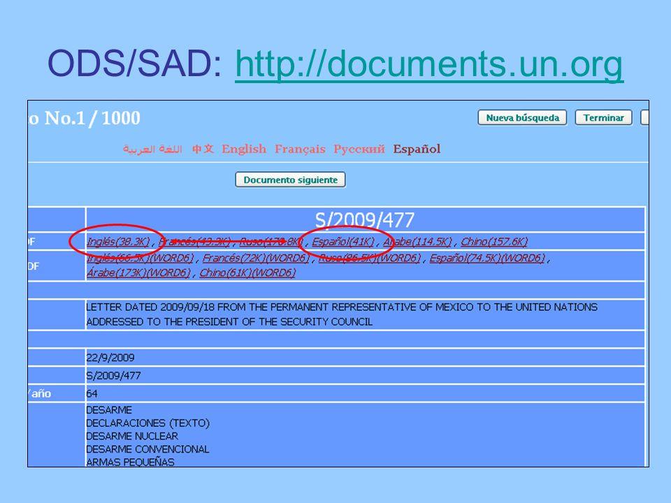 ODS/SAD: http://documents.un.orghttp://documents.un.org