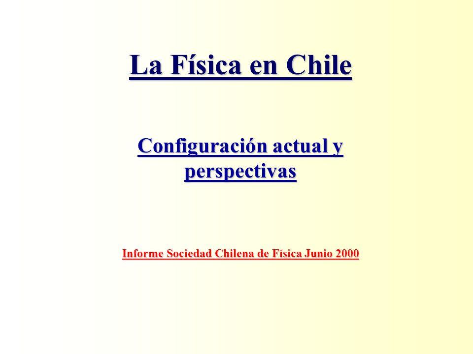 Fortalezas de la Física en Chile Recursos HumanosRecursos Humanos –Comunidad activa alta productividad y calidad.