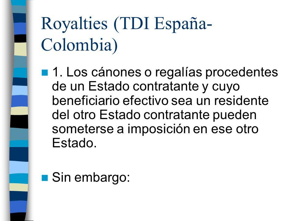 Royalties (TDI España- Colombia) 1.