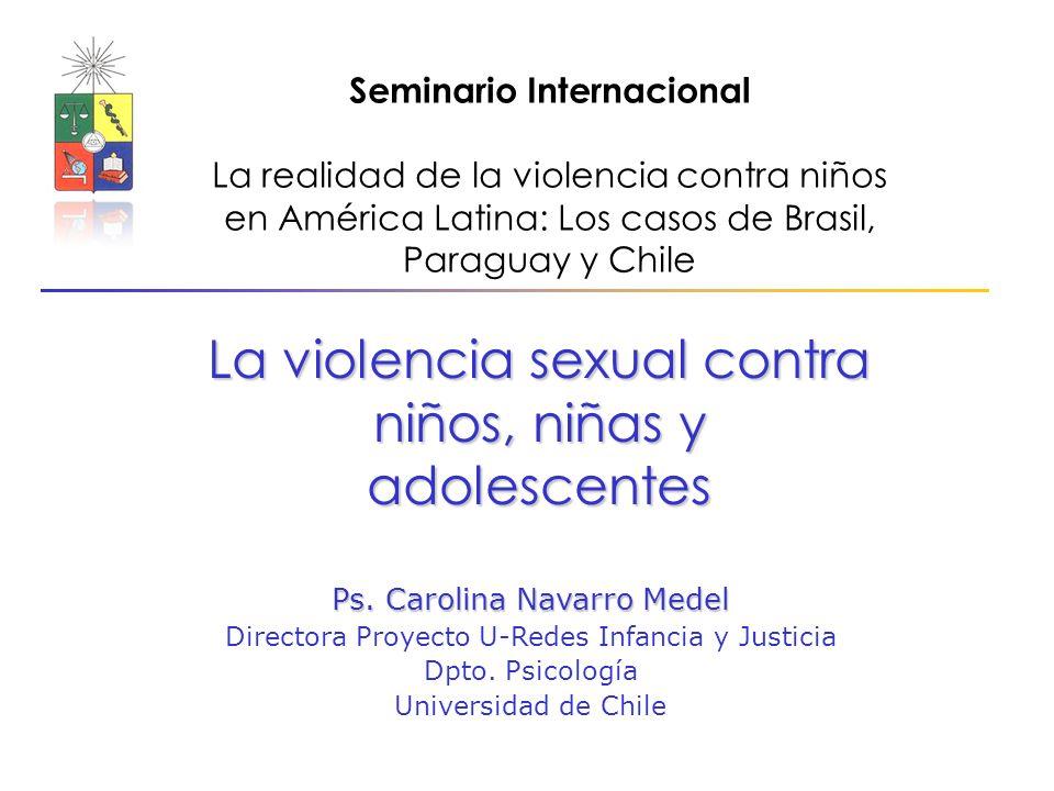 La violencia sexual contra niños, niñas y adolescentes Ps.