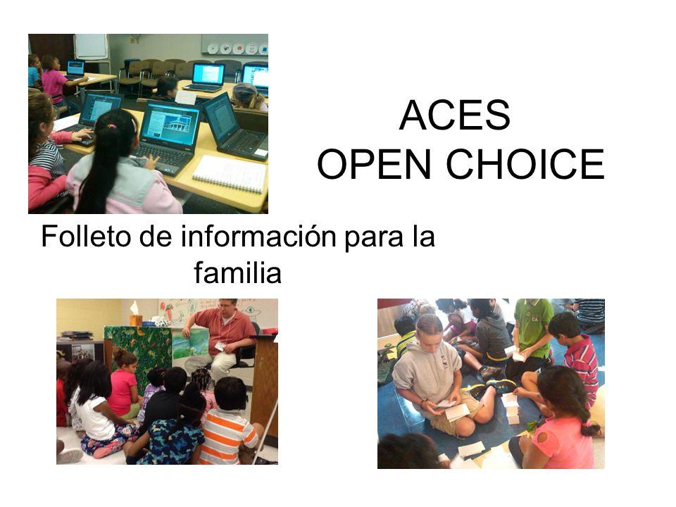 Contactos de Open Choice Carolyn McNally – Directora, Desarrollo (203) 498-6842 email:cmcnally@aces.org Lynn Bailey – Coordinadora de Open Choice (203) 498-6843 Email: lbailey@aces.org Ryki Pearce– Enlace entre familia y escuela (203) 498-6845 Email: rpearce@aces.org Fax #: (203) 498-6891