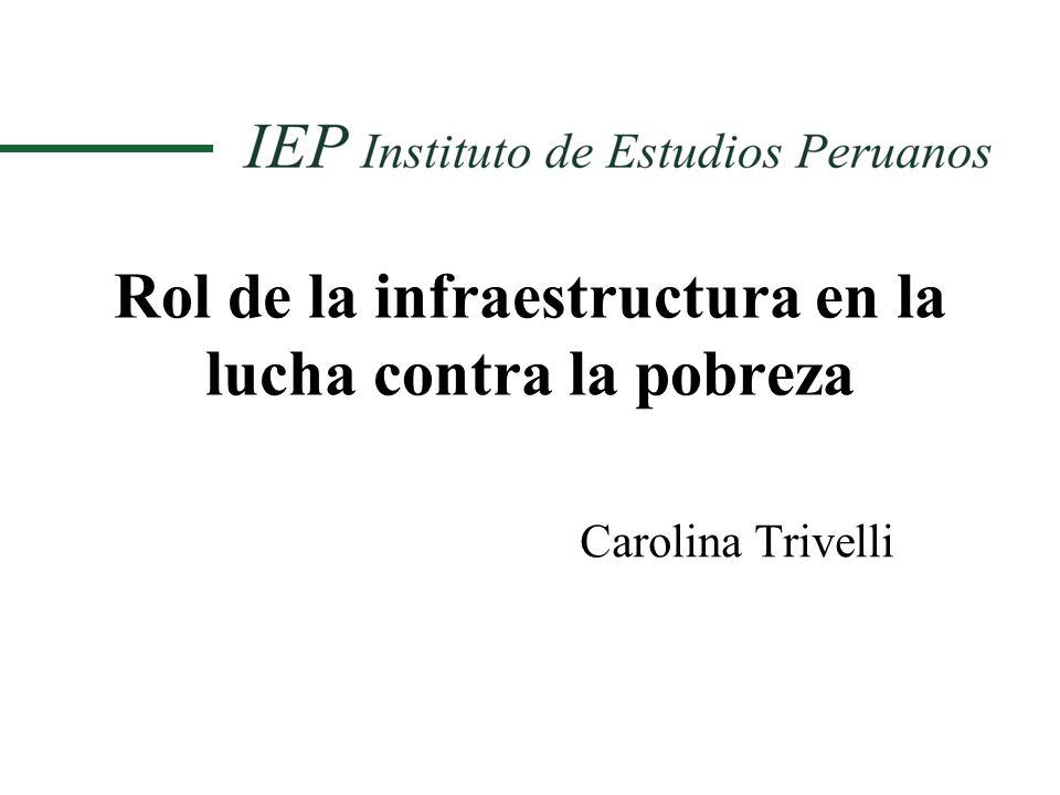 Rol de la infraestructura en la lucha contra la pobreza Carolina Trivelli