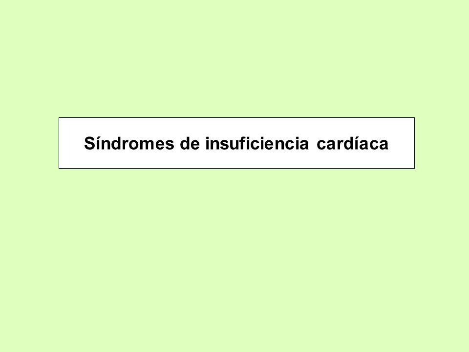 Síndromes de insuficiencia cardíaca