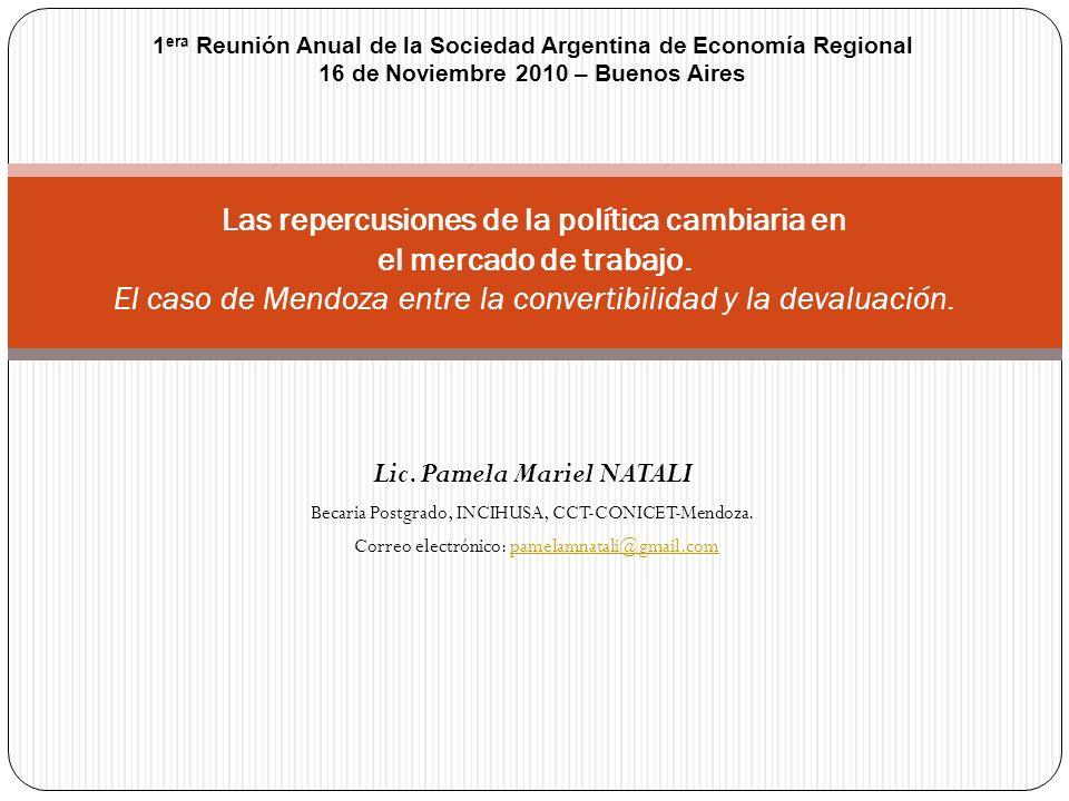 Lic. Pamela Mariel NATALI Becaria Postgrado, INCIHUSA, CCT-CONICET-Mendoza. Correo electrónico: pamelamnatali@gmail.compamelamnatali@gmail.com Las rep