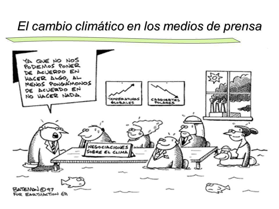 El cambio climático en los medios de prensa