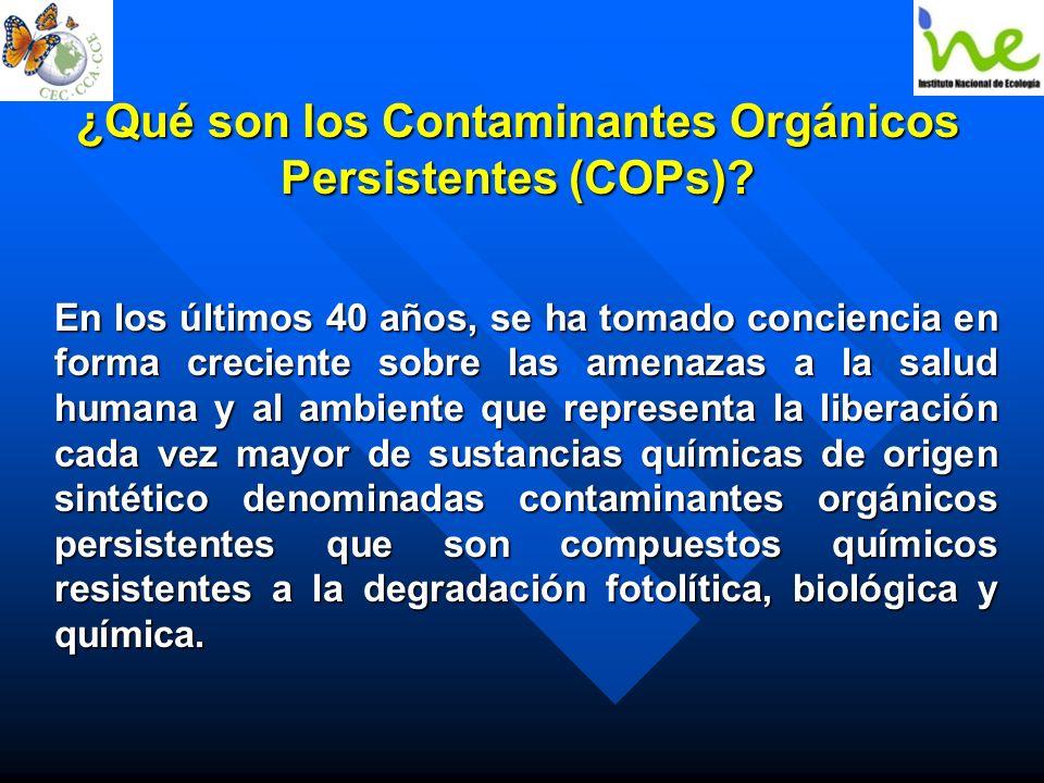 ¿Qué son los Contaminantes Orgánicos Persistentes (COPs)? En los últimos 40 años, se ha tomado conciencia en forma creciente sobre las amenazas a la s