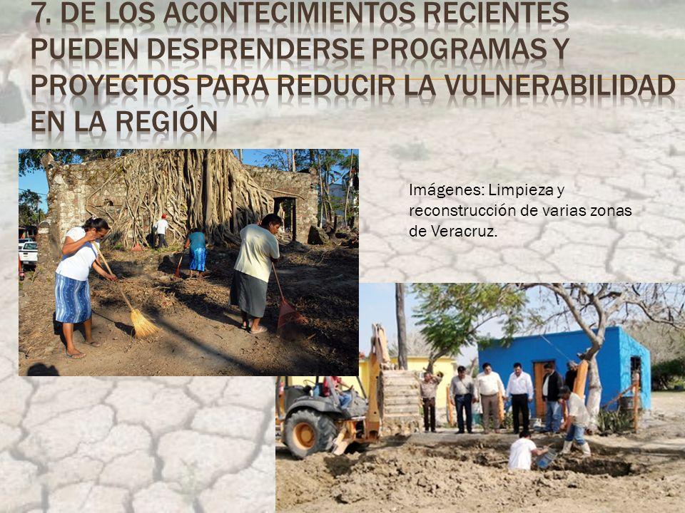 Imágenes: Limpieza y reconstrucción de varias zonas de Veracruz.