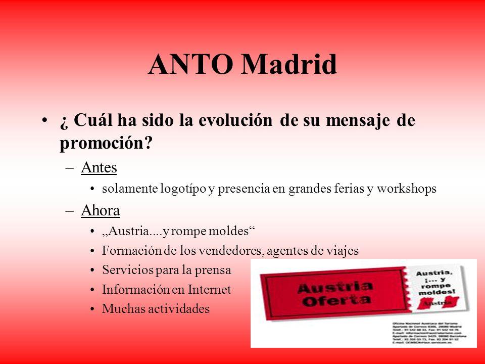 11 ANTO Madrid ¿ Cuál ha sido la evolución de su mensaje de promoción.