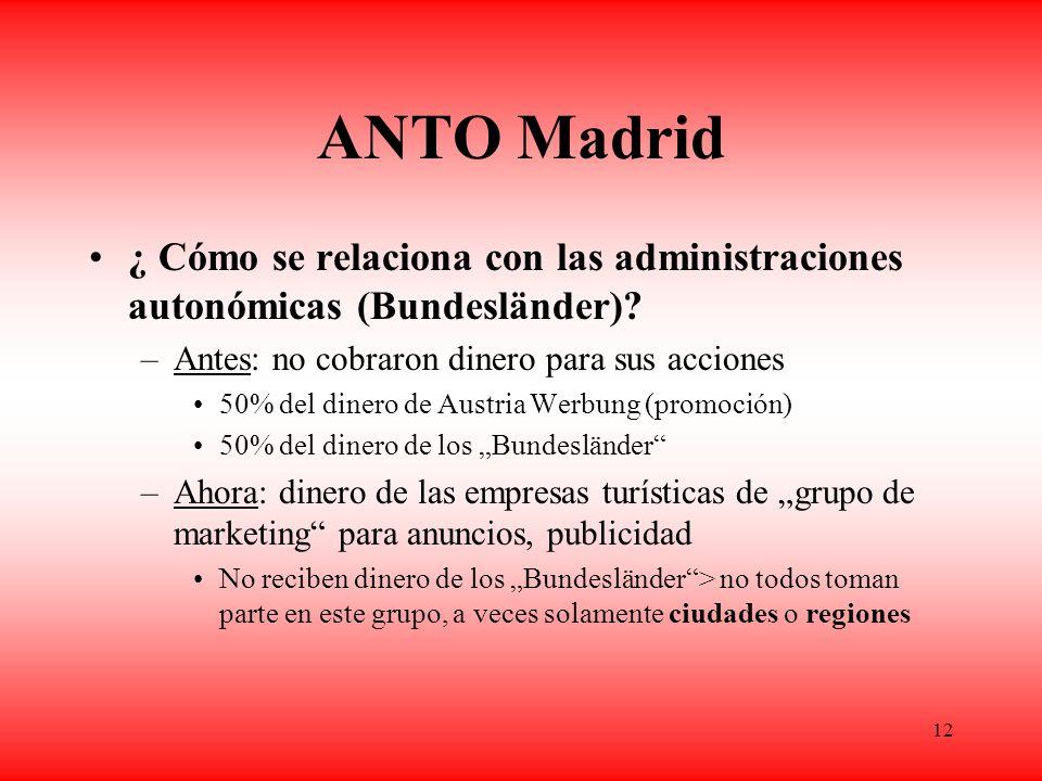 12 ANTO Madrid ¿ Cómo se relaciona con las administraciones autonómicas (Bundesländer).