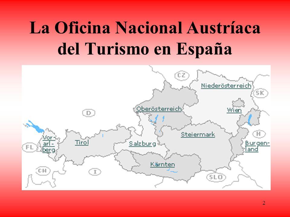 2 La Oficina Nacional Austríaca del Turismo en España Movimiento turístico de los españoles Estructura: Austria National Tourist Office ANTO Madrid –¿ Cuál es su misión.