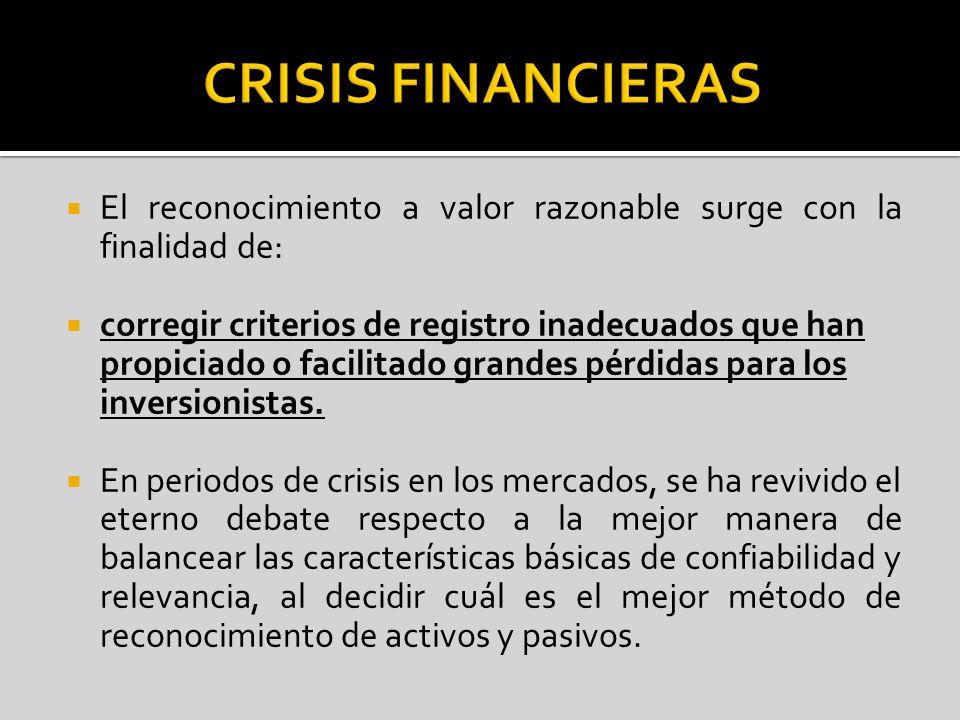 Crisis de los Saving and Loan Banks Valuación de las inversiones.