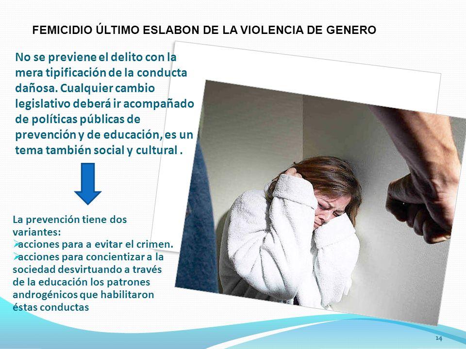 14 No se previene el delito con la mera tipificación de la conducta dañosa.