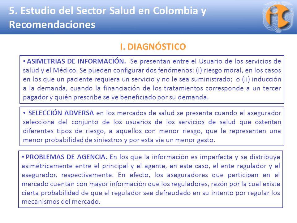 Superintendencia de Industria y Comercio 5. Estudio del Sector Salud en Colombia y Recomendaciones SELECCIÓN ADVERSA en los mercados de salud se prese