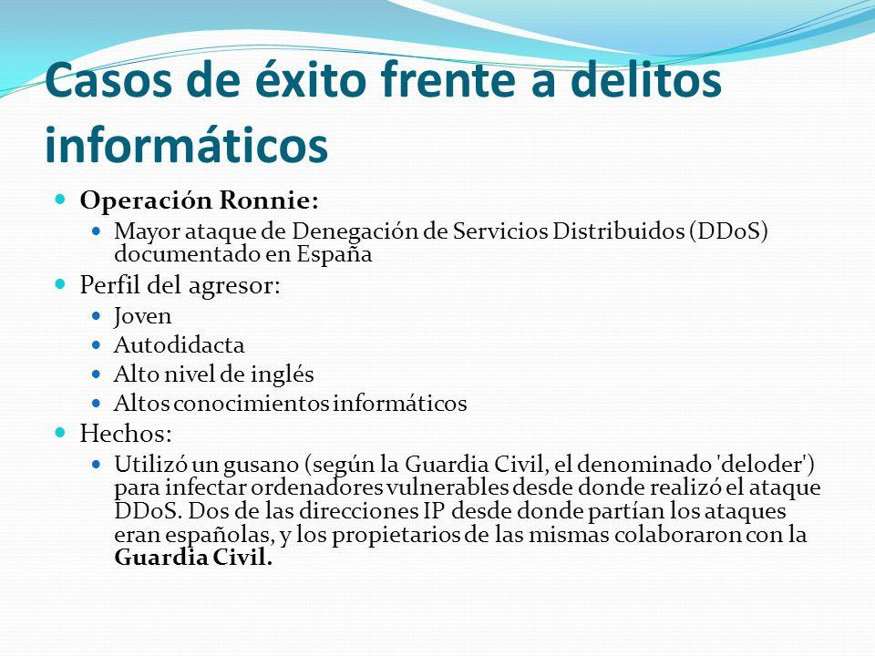 Casos de éxito frente a delitos informáticos Operación Ronnie: Mayor ataque de Denegación de Servicios Distribuidos (DDoS) documentado en España Perfi