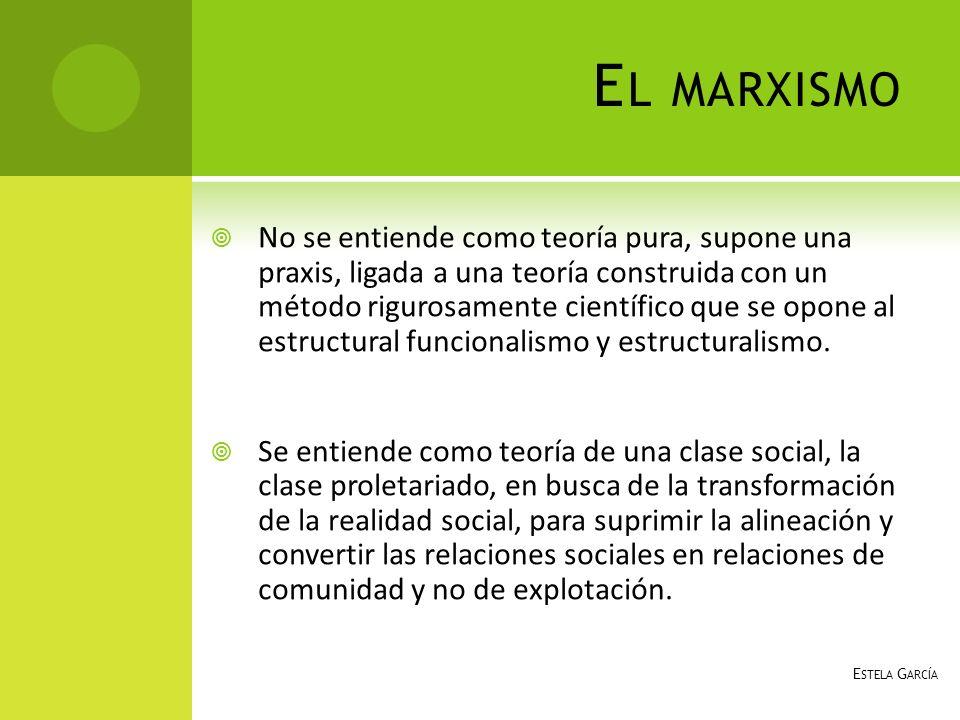 E STRUCTURAS SIGNIFICATIVAS Va de acuerdo a sus intereses de clase, se adapta a sus prácticas utilitarias.
