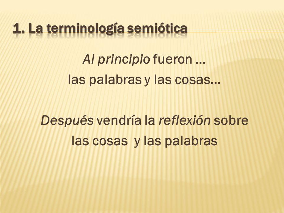 Teoría del símbolo lingüístico: De interpretatione: Tercer texto fundacional Pues bien, los sonidos vocales (ta en têi phonêi) son símbolos (sýmbola) de las afecciones (pathématon) que hay en el alma, y la escritura (ta graphómena) es símbolo de los sonidos vocales.