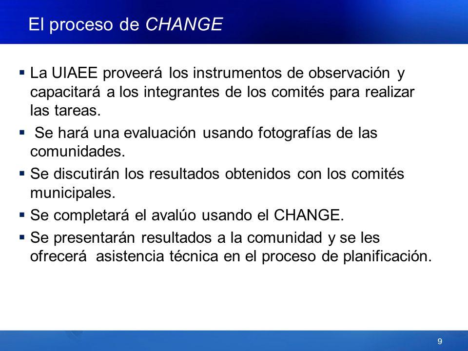 9 La UIAEE proveerá los instrumentos de observación y capacitará a los integrantes de los comités para realizar las tareas.