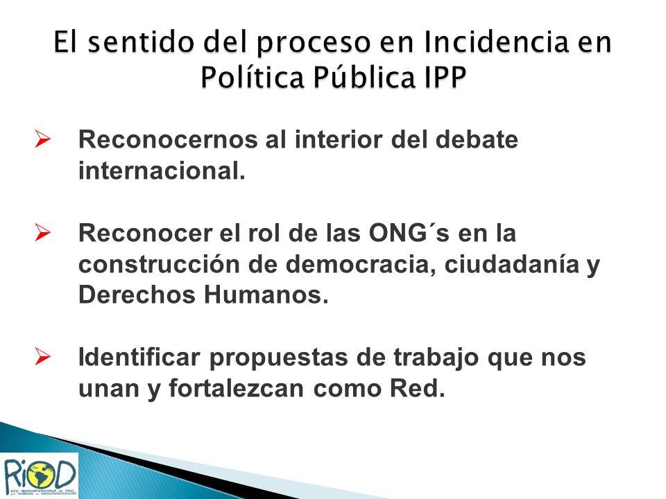 Reconocernos al interior del debate internacional.