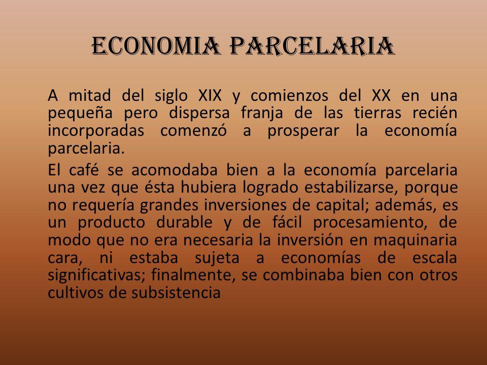 ECONOMIA PARCELARIA A mitad del siglo XIX y comienzos del XX en una pequeña pero dispersa franja de las tierras recién incorporadas comenzó a prospera