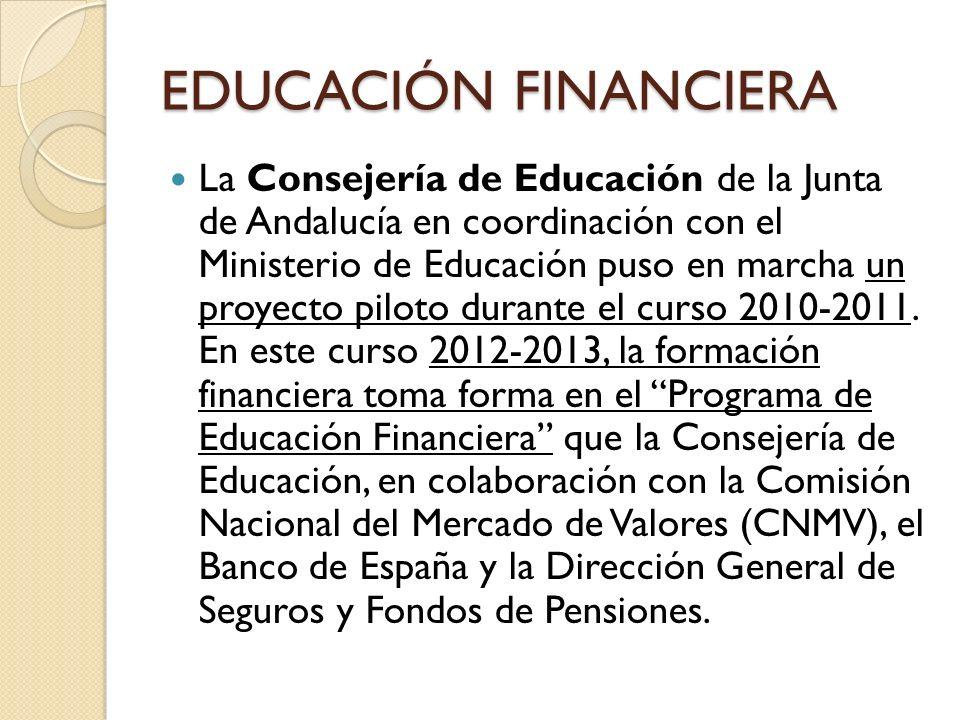 La Consejería de Educación de la Junta de Andalucía en coordinación con el Ministerio de Educación puso en marcha un proyecto piloto durante el curso