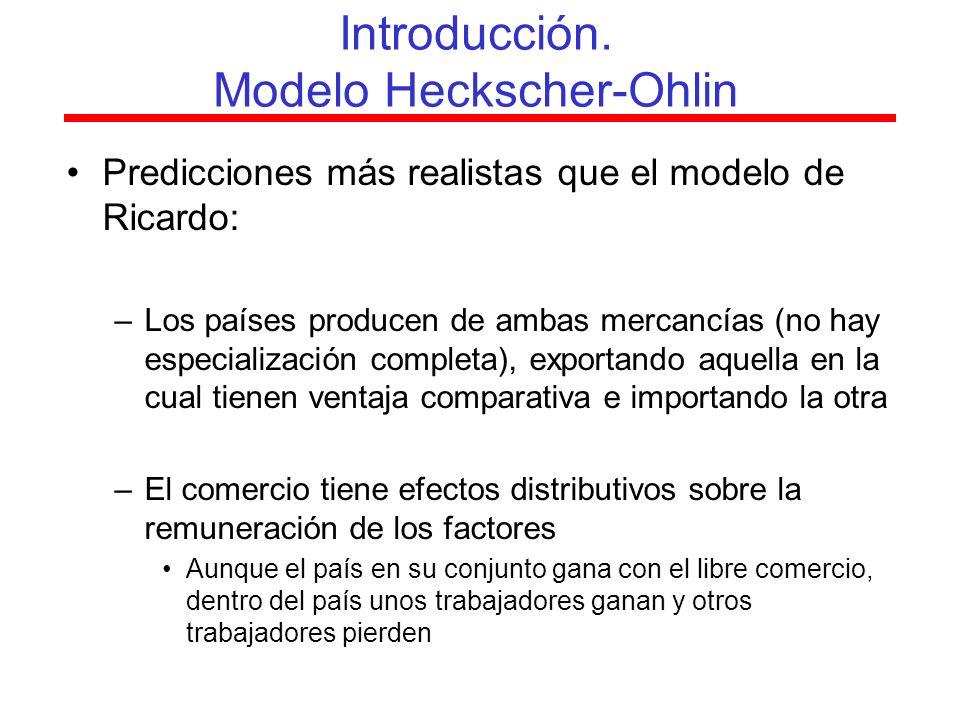 Determinación precio de los factores –Competencia perfecta –Perfecta movilidad de factores Pv Pa 2.2.