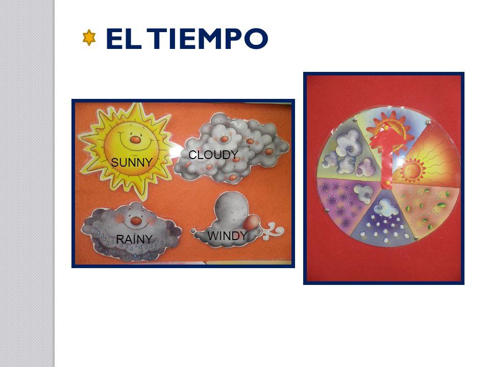 EL TIEMPO SUNNY RAINY CLOUDY WINDY