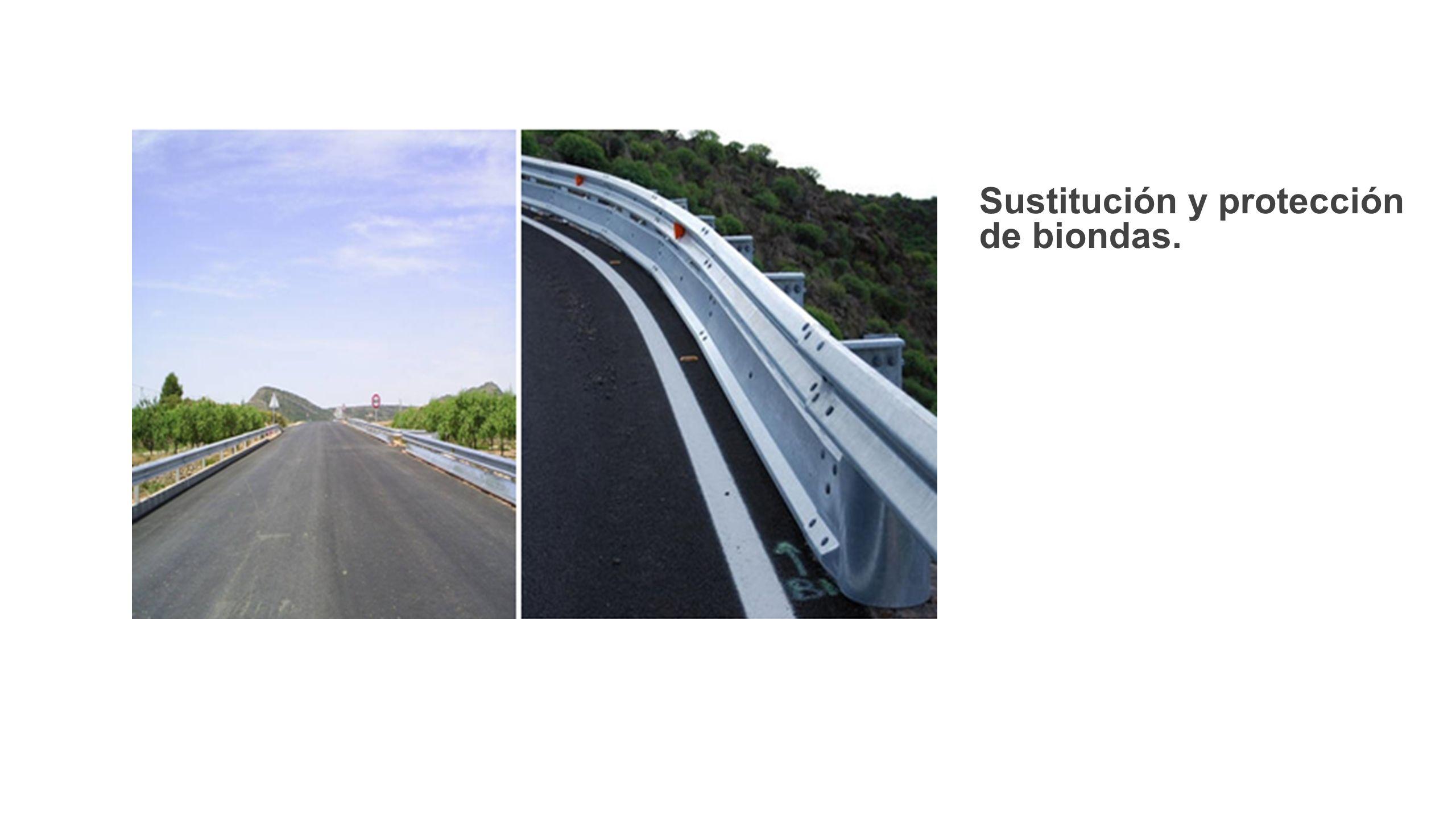 Sustitución y protección de biondas.