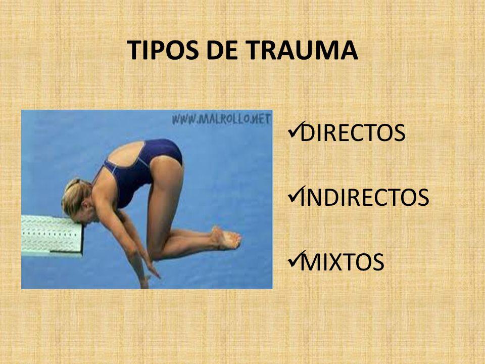 TIPOS DE TRAUMA DIRECTOS INDIRECTOS MIXTOS