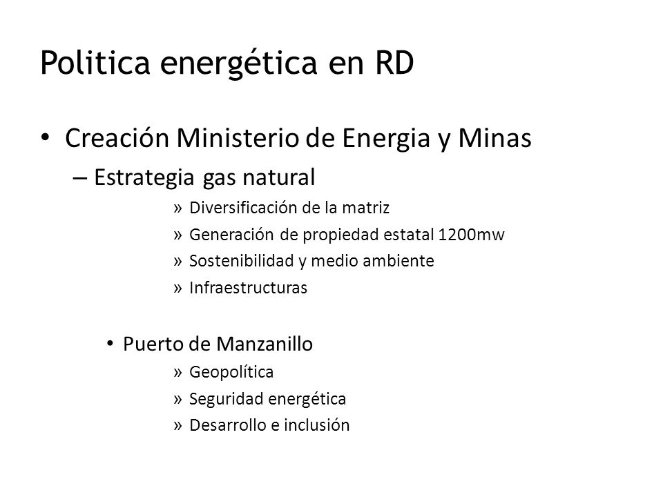 Politica energética en RD Creación Ministerio de Energia y Minas – Estrategia gas natural » Diversificación de la matriz » Generación de propiedad est