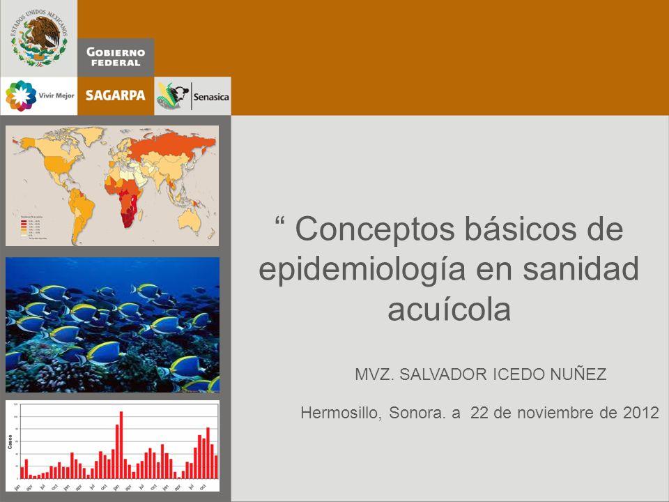 Espacio para foto o imagen Conceptos básicos de epidemiología en sanidad acuícola Hermosillo, Sonora. a 22 de noviembre de 2012 MVZ. SALVADOR ICEDO NU