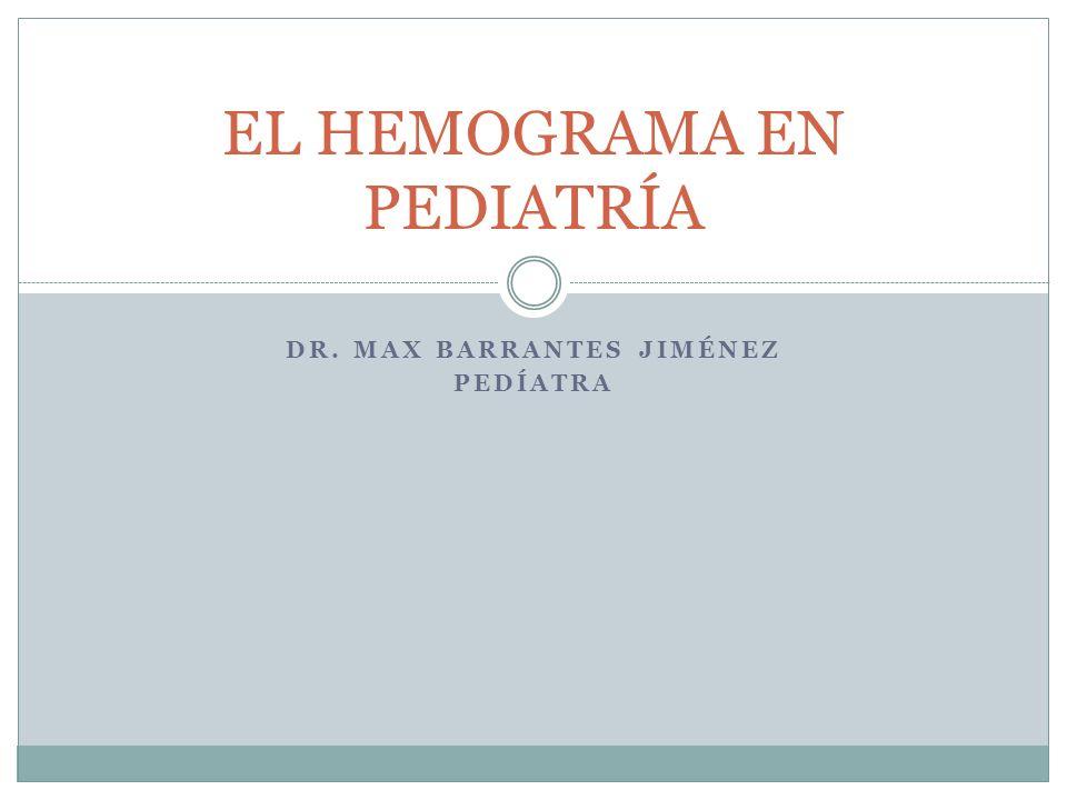 DR. MAX BARRANTES JIMÉNEZ PEDÍATRA EL HEMOGRAMA EN PEDIATRÍA