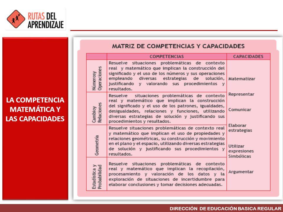 DIRECCIÓN DE EDUCACIÓN BASICA REGULAR LA COMPETENCIA MATEMÁTICA Y LAS CAPACIDADES