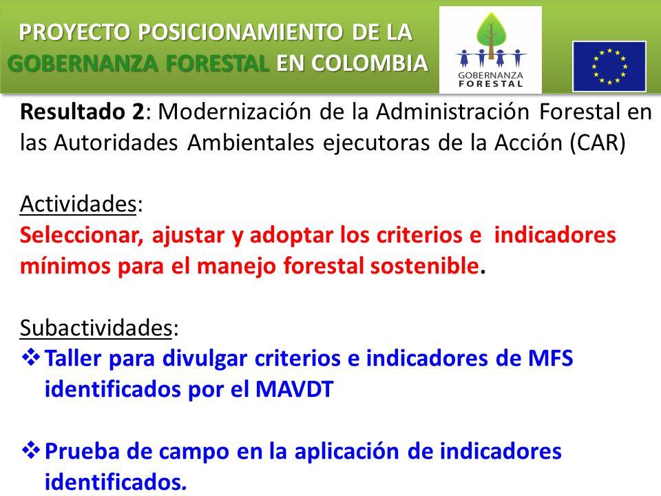 PROYECTO POSICIONAMIENTO DE LA GOBERNANZA FORESTAL EN COLOMBIA PROYECTO POSICIONAMIENTO DE LA GOBERNANZA FORESTAL EN COLOMBIA CONTEXTUALIZACIÓN SOBRE C&I FAO.