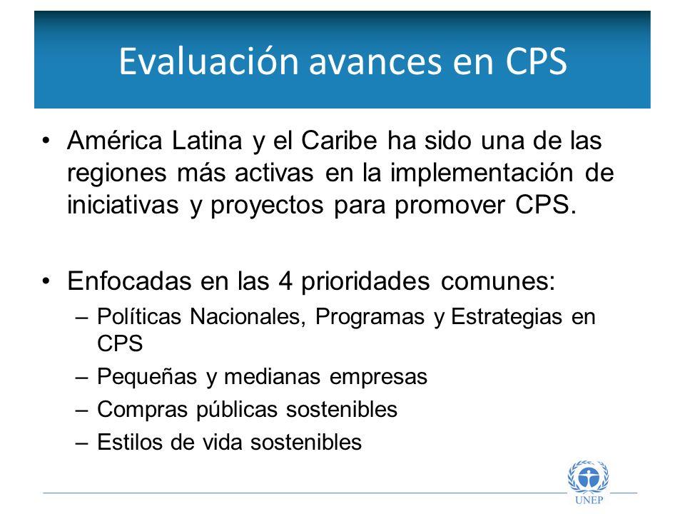 Políticas y programas de CPS Los países de la región han promovido esfuerzos importantes finalizados al fortalecimiento del marco para CPS.