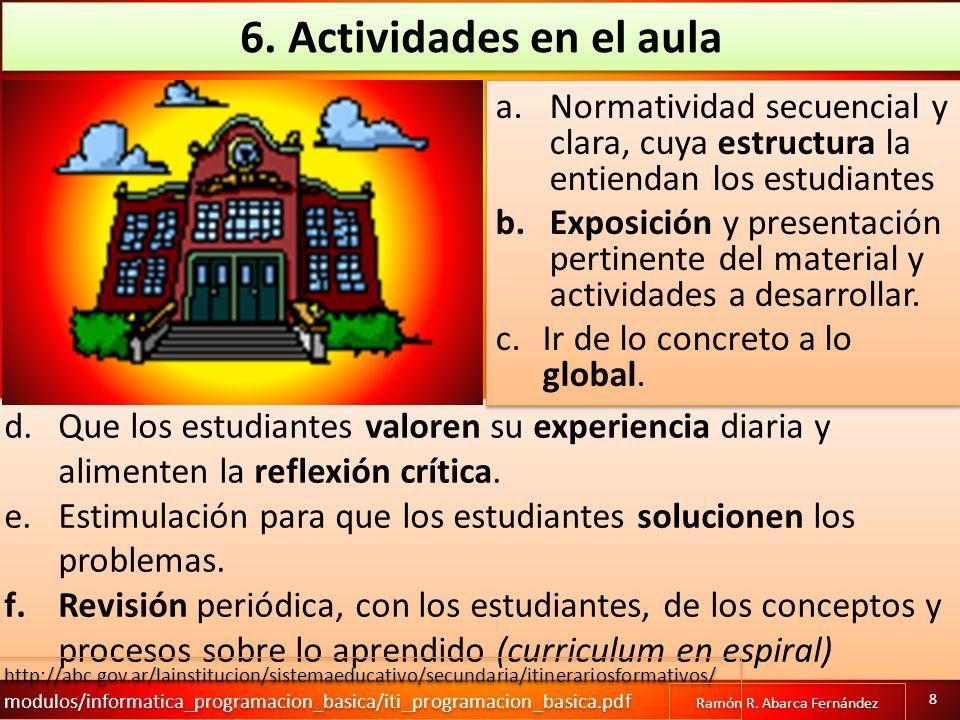 Creación de un ambiente propicio para el aprendizaje.