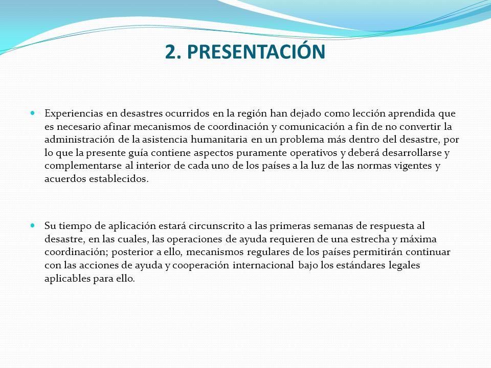 6.MODALIDADES DE LA ASISTENCIA HUMANITARIA.