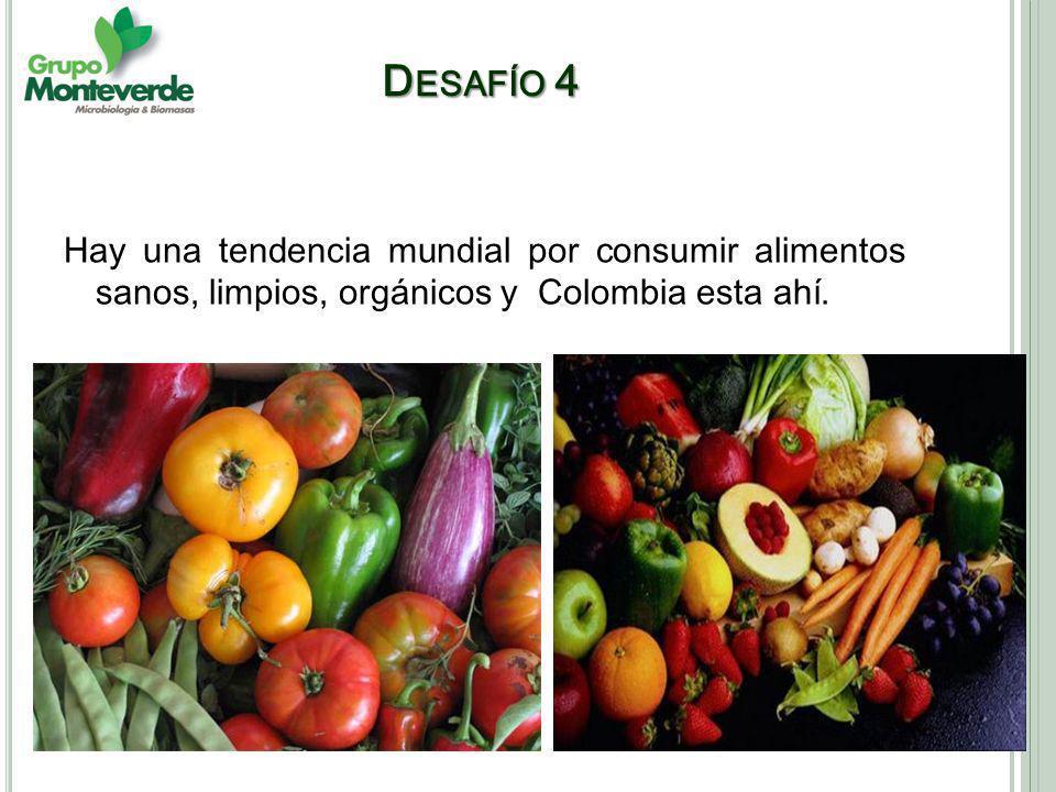 Hay una tendencia mundial por consumir alimentos sanos, limpios, orgánicos y Colombia esta ahí.