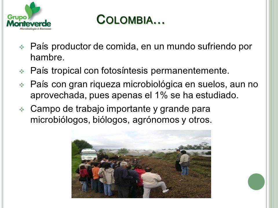 C OLOMBIA … País productor de comida, en un mundo sufriendo por hambre.